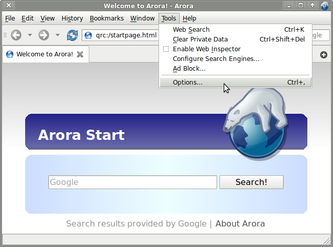 how to use https proxy in arora browser options