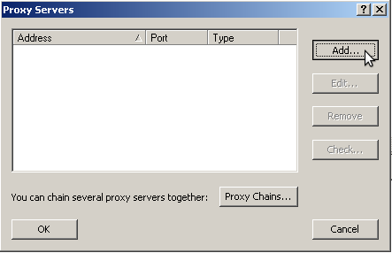 proxifier add proxy server