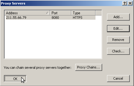 proxifier add HTTP proxy server