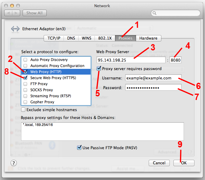 how to use proxy in safari
